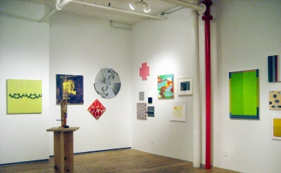 Installation view of To Leo, A Tribute from American Abstract Artists at Sidesho