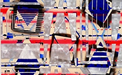 (detail) John Phillip Abbott, Salad Days, 2012, acrylic, spray paint, and ballpo