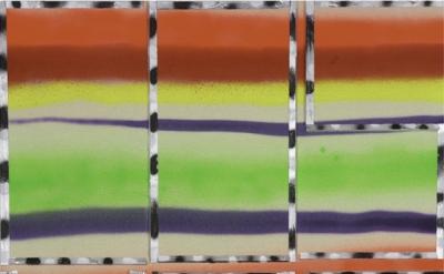 (detail) John Phillip Abbott, Cosmos, 2015, spray paint on canvas, 36 x 30 inche