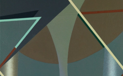 (detail) Tomma Abts, Voke, 2013, acrylic and oil on canvas, 18 7/8 x 15 inches (