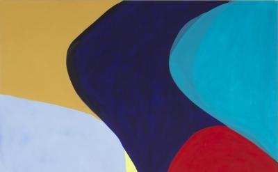 Marina Adams, Standing on my Head, 2016, acrylic on linen, 88 x 78 inches (courtesy of Salon 94 Bowery)