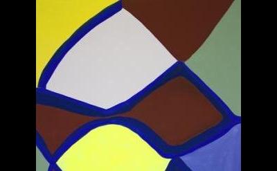 (detail) Marina Adams, Deep Kissing (for Hudson), 2014, acrylic on linen, 78 x 6