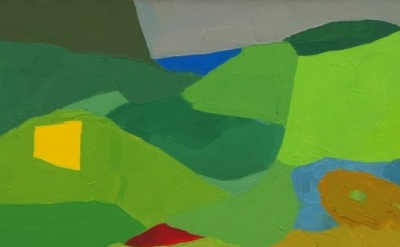 (detail) Etel Adnan, Untitled, oil on canvas (courtesy of the artist)