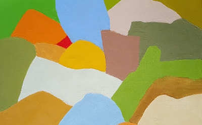Etel Adnan, Untitled, 2015, oil on canvas, 33 x 41 cm (courtesy of Sfeir Semler