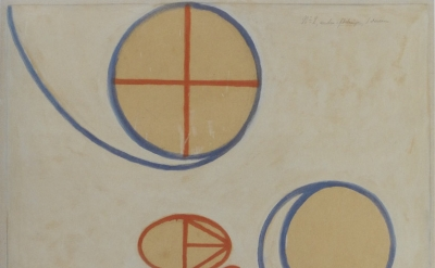 (detail) Hilma af Klint, The Seven-Pointed Star, No. 2, 1908, tempera, gouache,