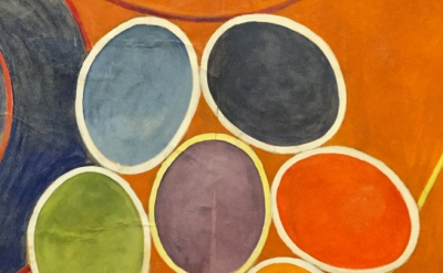 (detail) Hilma af Klint, detail of The Ten Largest, No. 3, Youth, Group IV, 1907 (courtesy of Serpentine Gallery)