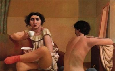 Alan Feltus, Awakenings, 1993, oil on canvas, 31 1/2 x 39 1/4 inches