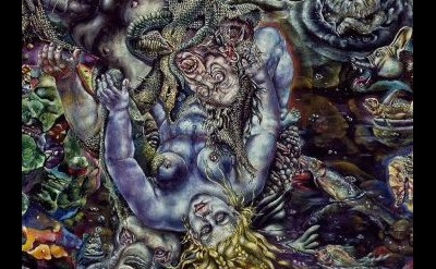 Ivan Albright, Temptation of St. Anthony, 1944/45, oil on canvas, 50 x 60 inches