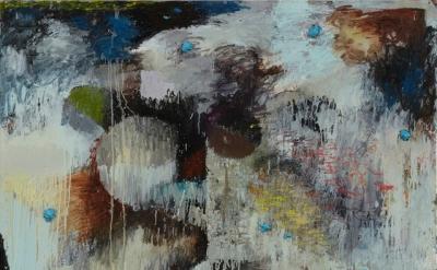 (detail) Phillip Allen, I blame it on Kosuth, 2012, oil on canvas, 71.7 x 59.8 i