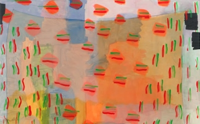 (detail) Allison Miller, Noren, 2011, Acrylic on canvas, 60 x 48 inches (courtes