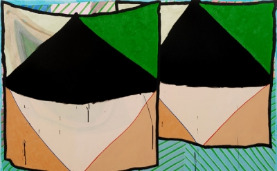 Allison Miller, Monday, 2011, acrylic and oil on canvas, 48 by 60 inches (courte