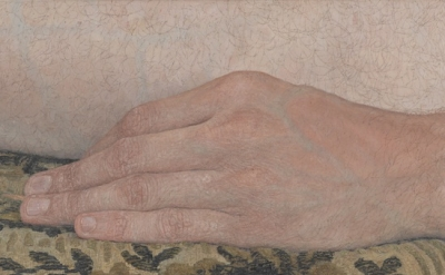 Ellen Altfest, The Hand, 2011, oil on canvas, 6 1/4 x 8 5/8 inches (© Ellen Altf