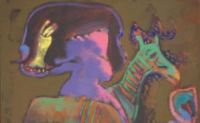 (detail) John Altoon, Untitled, (Haircut #2), 1965, oil on canvas 60 x 56 inches