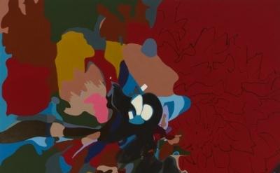 (detail) Candida Alvarez, DaDaDahlia, 2005-08, acrylic on canvas, 6ft x 7ft (cou