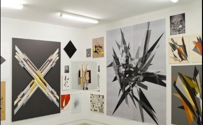 Justin Andrews, In Darkness Born (installation view TCB Art Inc Australia) 2 wal