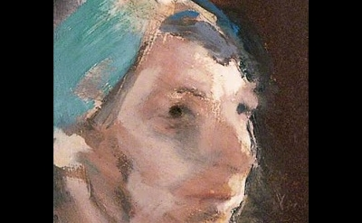 (detail) Michael Andrews, Study of a Head With a Green Turban, 1967 (Private Col