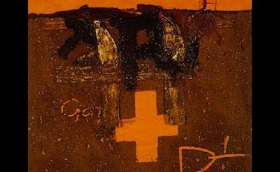 (detail) Antoni Tàpies, Creu | R, Mixed Media, 1975 (Col·lecció MACBA. Fundació