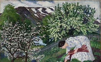 Nikolai Astrup, Rhubarb, 1911, Oil on canvas © The Savings Bank Foundation DNB/T