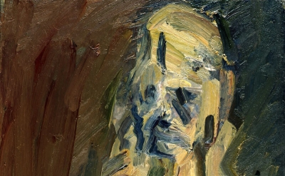(detail) Frank Auerbach, Portrait of Catherine Lampert, 2010, oil on canvas, 20