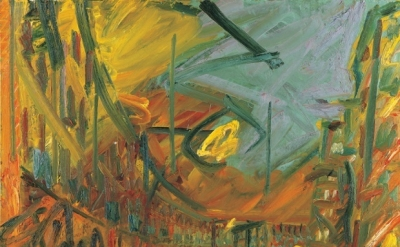 Frank Auerbach,  Mornington Crescent – Early Morning 1992-93 (courtesy Marlborou