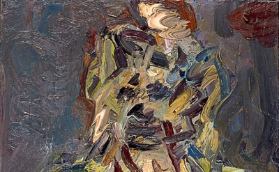 Frank Auerbach Head of Catherine Lampert 1988, oil on canvas, 610mm x 711mm (© F