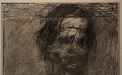 Frank Auerbach, David Landau, charcoal on paper, 568 x 762 mm, 1984-85 (courtesy