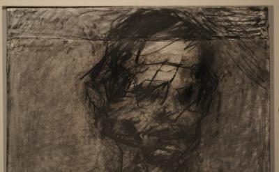 Frank Auerbach, David Landau, charcoal on paper, 568 x 762 mm, 1984-85 (courtesy