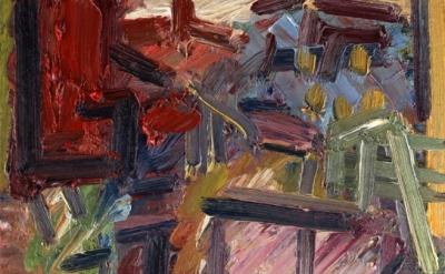 (detail) Frank Auerbach, Next Door II, 2012, oil on board, 50.8 x 45.7 cm (court