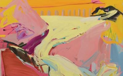 Sarah Awad, Untitled (Glacier V), 2013, oil on canvas, 38 x 42 inches (photo: Ma