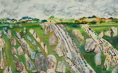 (detail) Olive Ayhens, Carnac, 2011 (courtesy the artist and Lori Bookstein Fine