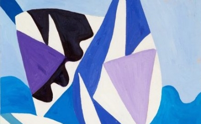 (detail) Painting by Gillian Ayres (courtesy of Alan Cristea Gallery)
