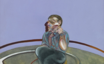 (detail) Francis Bacon, Self-Portrait, 1978, oil on canvas, 78 x 58 inches (Priv