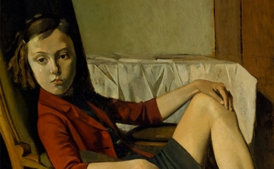 (detail) Balthus, Thérèse, 1938 (The Metropolitan Museum of Art, New York, Beque