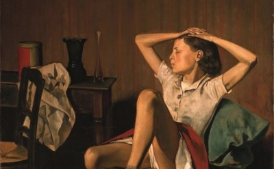 (detail) Balthus, Thérèse Dreaming,1938 (The Metropolitan Museum of Art)