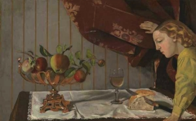 Balthus, Still Life with a Figure, 1942, 74 x 93 cm, oil on wood