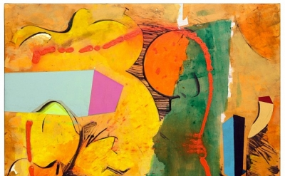 Walter Darby Bannard, Prodigal Sun (15-23A), 2015, acrylic on canvas, 49 1/2 x 55 inches  (courtesy of Berry Campbell Gallery)