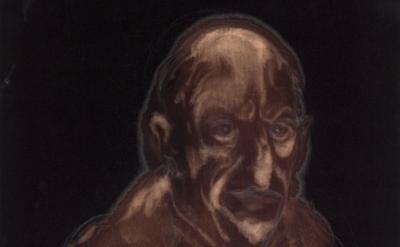 (detail) Miquel Barceló, Colm, 2011, bleach, chalk, and charcoal on linen, 46 1/
