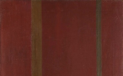 (detail) Barnett Newman, Galaxy, 1949, Oil on canvas, 24 x 20 inches, Collection