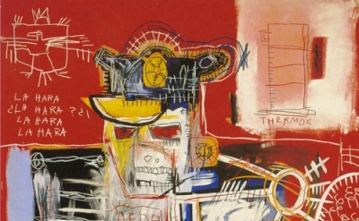(detail) Jean-Michel Basquiat, La Hara, 1981 (© The Estate of Jean-Michel Basqui