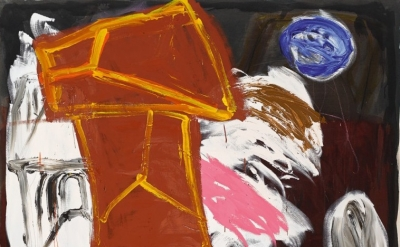 (detail) Basil Beattie, Far From Somewhere, 2014, oil and wax, 213 x 198 x 5.08