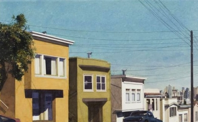 (detail) Robert Bechtle, Down Arkansas Street, 2013 (courtesy of Barbara Gladsto