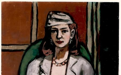 Max Beckmann, Quappi in Grey, 1948, oil on canvas, 42 1/2 × 31 1/8 inches (Private collection, New York)