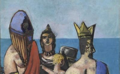 (detail) Max Beckmann, Departure (center panel) 1932/1933,1935, oil on canvas (Museum of Modern Art, New York)