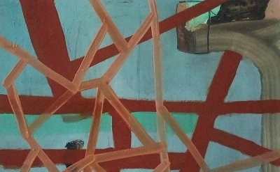 Becky Yazdan, Di Suvero Swing, 8 x 10 inches, oil on clayboard, 2011