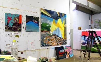 Jonathan Beer, Studio View, Leipzig (courtesy of the artist)