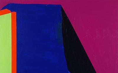 (detail) Paul Behnke, d'Artagnan, 2013, acrylic on canvas, 48 x 50 inches (court