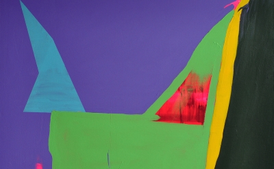 (detail) Paul Behnke, Green Haint, 2014, acrylic on canvas, 60 x 58 inches (cour