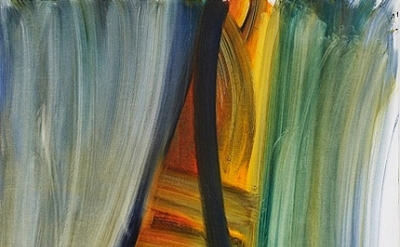 (detail) Andrea Belag, 2012, Torn Curtain, oil on linen, 56 x 48 inches (courtes