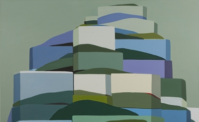 Louise Belcourt, Mound 24, 2014, oil on canvas (courtesy of the artist)