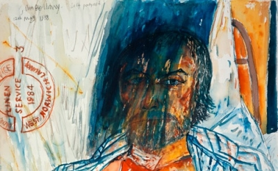 (detail) John Bellany. Self-Portrait (from the Addenbrooke's Hospital Series), 1